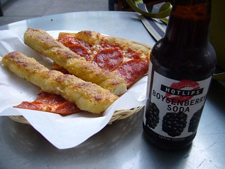 Hotlips Soda Pizza and sticks