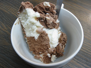 Chocoate and Vanilla ice Cream