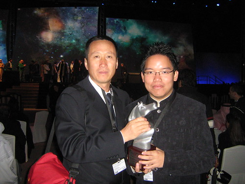 "With Yu Guangyi (""Survival Song""), Special Jury Prize winner for AsiaAfrica Documentary, Dubai Film Fest 2008 Closing Ceremony"