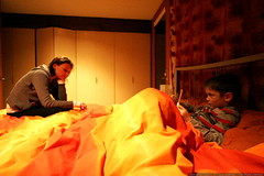 aunt megan making up a bedtime story for nick    MG …