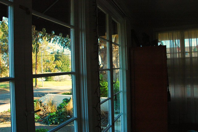 Looking southeast out the french doors san mateo for Looking for french doors