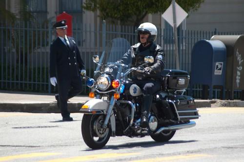 SFPD Police Bike Red Light