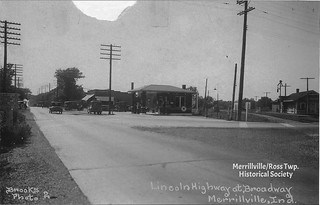 Lincoln Hwy at Broadway. Undated.