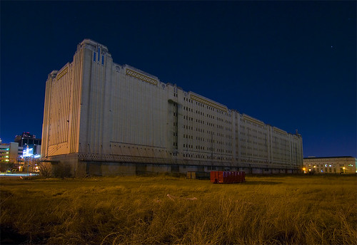 railroad abandoned night texas pacific fort warehouse artdeco worth
