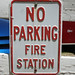 No Parking: Fire Station