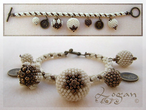 Pulsera spiral rope + beaded beads