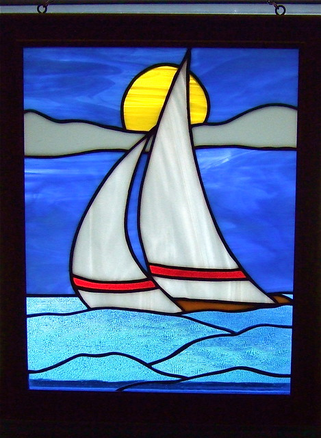 Sailboat Stained Glass Flickr Photo Sharing