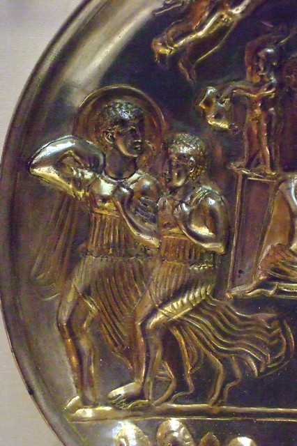 Silver Plate showing Dionysos either late Parthian or early Sasanian  2nd - 3rd century CE Afghanistan (1)
