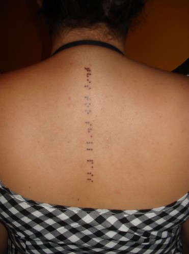 First tattoo Braille this too shall pass