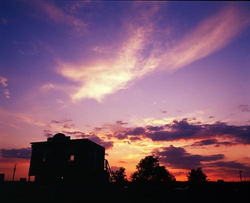 sunset film mediumformat geotagged texas ghosttown filmscan mamiya7ii