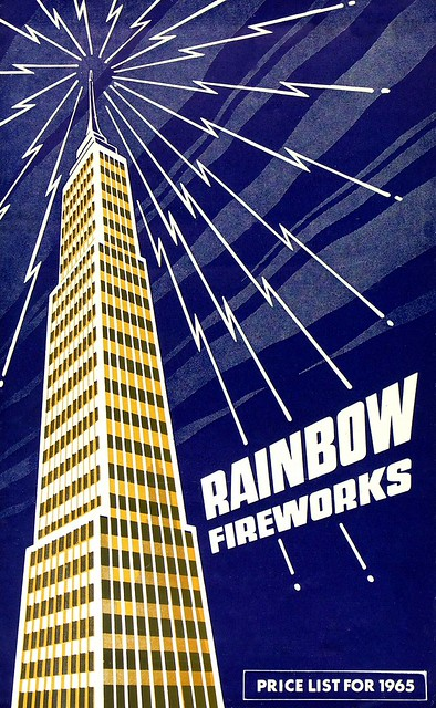 Rainbow Fireworks Poster