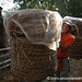Dan Carries Big Baskets - Inle Lake, Burma