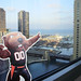 Benny Beaver points out Navy Pier by gdwriter00
