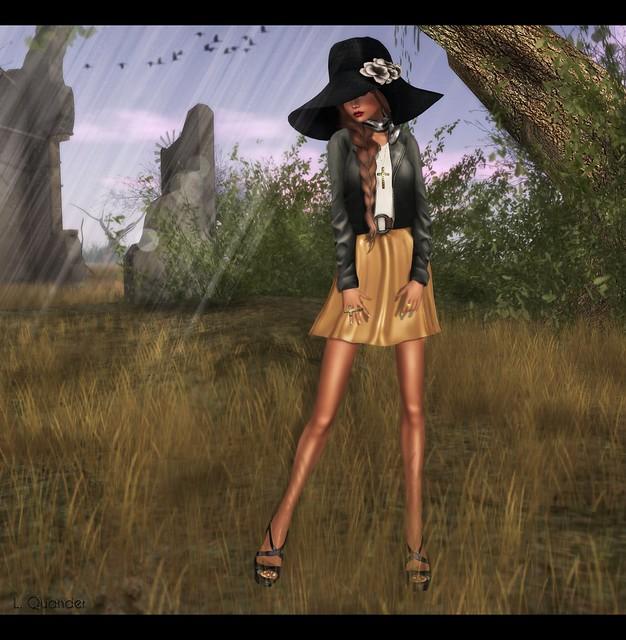 Baiastice - Karen Dress, ISON - Bubble Bomber Jacket & [Belgravia] - Paradise Sandels