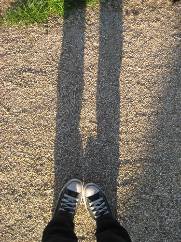 Me & my AllStars standing in our shadow.