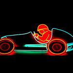 Neon Race Car Atari Games Outrun