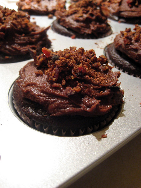 Dark Chocolate Bacon Cupcakes! | Flickr - Photo Sharing!