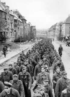 The endless procession of German prisoners