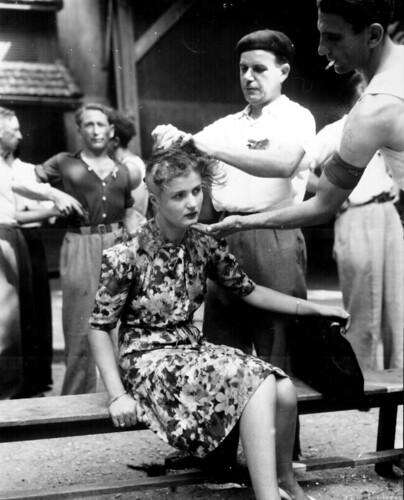 無料写真素材, 戦争, 戦争犠牲者, 女性, フランス人, 第二次世界大戦, モノクロ