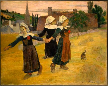 Paul Gauguin breton girls dancing