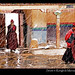 Tibet-Everest-monastery-snow-nuns