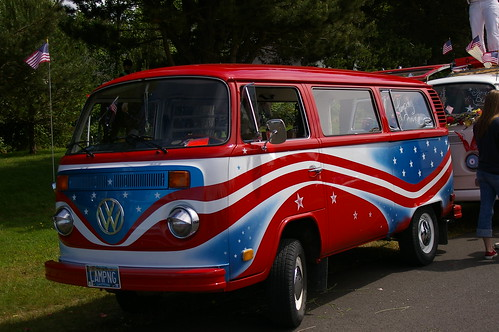 The Red White and Blue VW