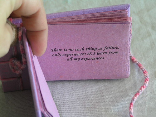 Inspirational Book - Hand bound with recycled handmade paper on cover by Recycled Handmade Paper