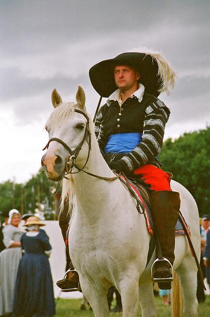 Mounted Cavalier, 17th Century Re-enactor at Kelmarsh ...