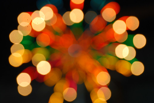 fireworks candy bokeh