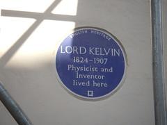 Photo of William Thomson blue plaque