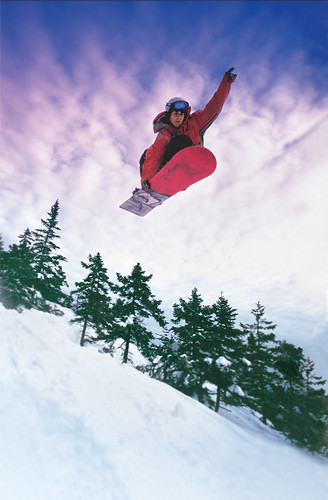 Snowboarding in Maine par VisitMaine.com