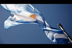 bandera in the breeze.