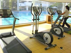exercise machine, exercise equipment, room, physical fitness, gym,