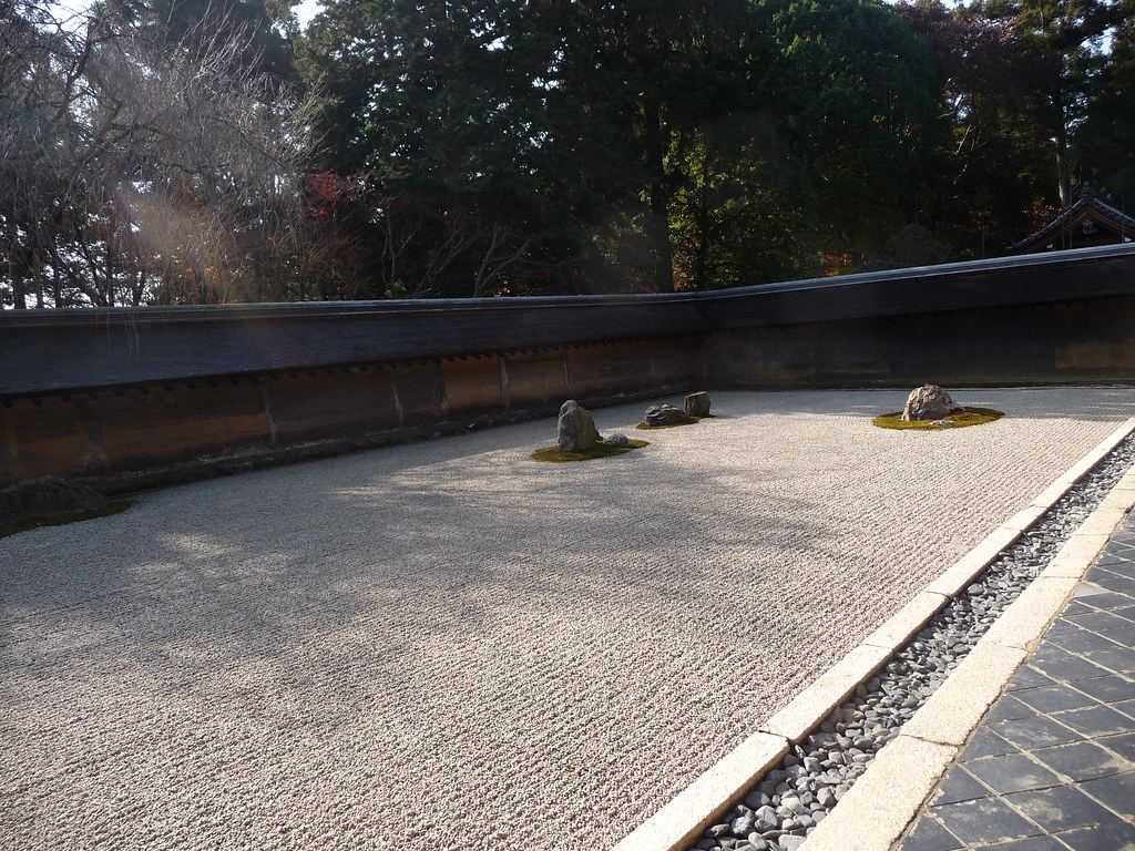 Ryoan-ji temple, probably the most famous zen garden in Japan. Very simple but beautiful.