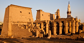 Egypt, evening, Luxor, temple