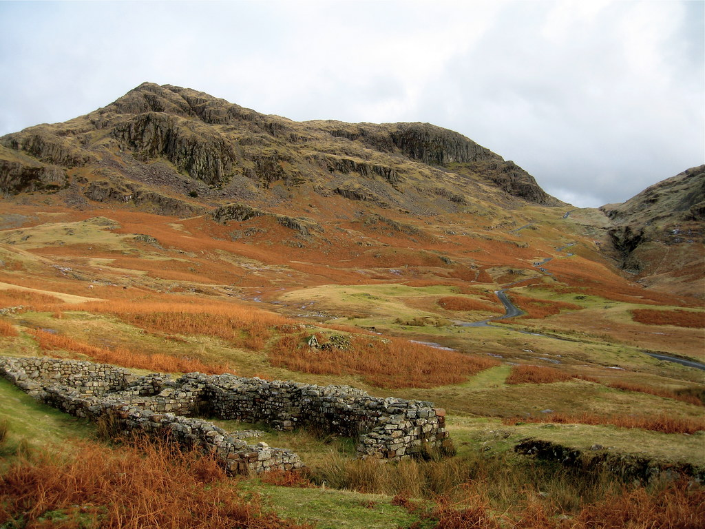 Roman fort and Hardknott pass