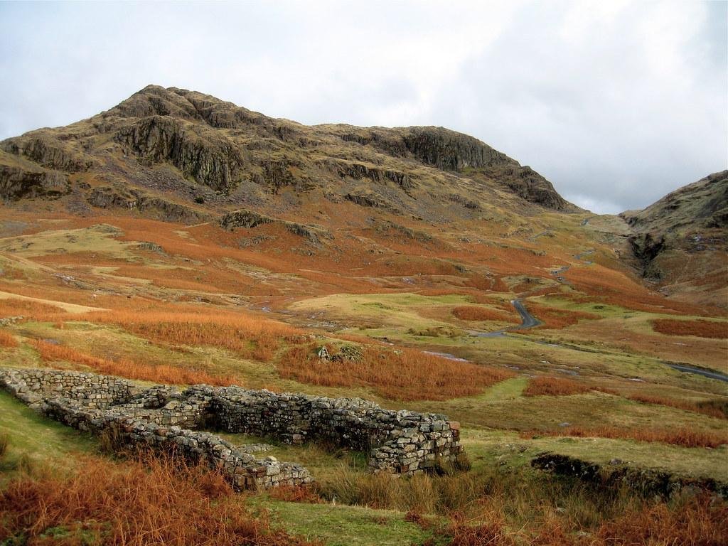 Roman fort and Hardknott pass