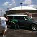 Small photo of Final unwrapping of the Plaid Ford Flex
