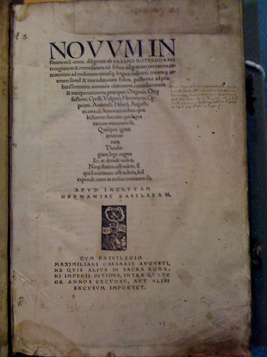 Erasmus, 1st Edition Greek New Testament