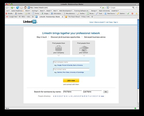 LinkedIn sign-up page | Flickr - Photo Sharing!