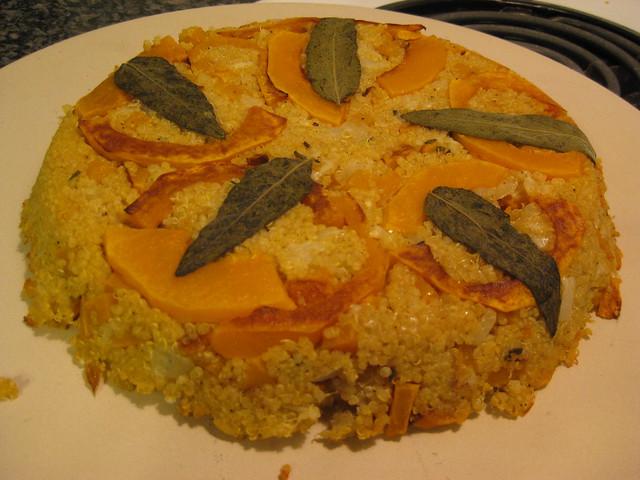 Quinoa Pie | Yummy pie made with quinoa, butternut squash, s ...