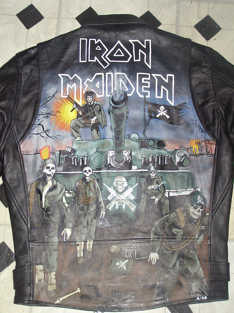 Custom Painted Iron Maiden Leather Jacket