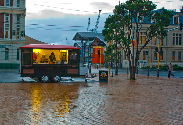 Winter morning coffee, Post Office Square, Wellington, New Zealand, 23 July 2008