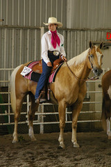 Western riding show, Holly in western riding