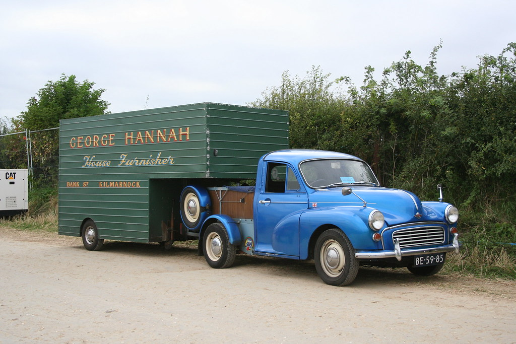 Morris Minor pick-up with rare Minatic trailer