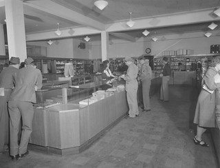Hamilton Field, CA Post Exchange interior 17 October 1945