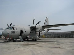aviation, airplane, propeller driven aircraft, vehicle, cargo aircraft, military transport aircraft, alenia c-27j spartan, air force,