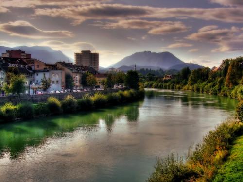 Villach/Austria - Drau river
