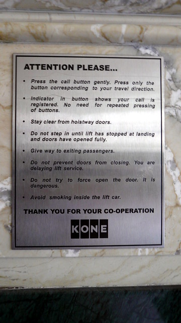 Lift Instructions With Emphasis On Not Pressing The Button