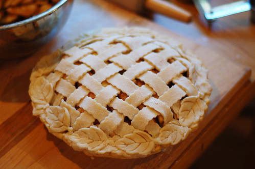 Jeremy's lattice top thankgiving pie